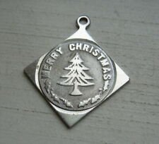Vintage Sterling Silver Merry Christmas Charm No Monograms