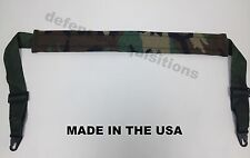 Military Tactical Padded Sling Shoulder Strap Woodland Camo HK Clips USA