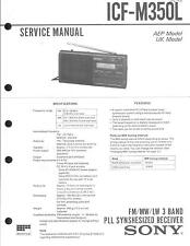 Sony  Original Service Manual für ICF- M 350L