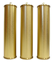 NEW 60mm Grandfather Clock Brushed Brass Weight Shell Set - U.S. Made (WS-4)