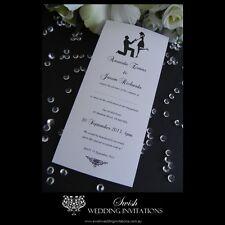 Proposal Black & White Wedding or Engagement Invitations - Invite Samples