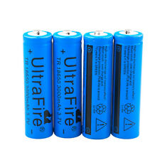 4pcs UltraFire Blue 3000mAh 18650 Rechargeable Li-ion Battery Batteries From USA