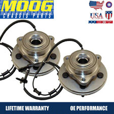 MOOG  2 New Complete Front Wheel Hub and Bearing Assembly w/ ABS for Explorer