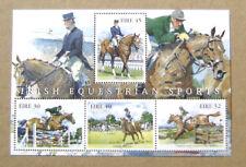 Bloc de 4 timbres neuf Eire Irlande Sports équestres