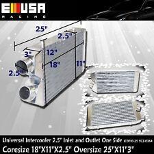 "2.5"" I&O Universal Intercooler 25""X11""3"" One Side YCZ-036A"