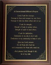 CORRECTIONAL OFFICER GIFT - CORRECTIONS OFFICER PLAQUE - Can be Personalized