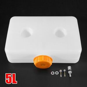 5L White Plastic Fuel Oil Gasoline Tank For Car Truck Air Diesel Parking  # /