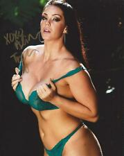 Alison Tyler Green In Bra & Panties Adult Model Signed 8x10 Photo COA Proof AT X