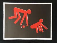 Rudolf Bonvie, clean up, Farblithographie, 1987, handsigniert und datiert