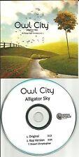 OWL CITY Alligator City RAP VERSION TST PRESS PROMO Radio DJ CD single 2011 USA