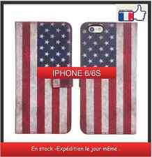 Housse étui case pour iPhone 6-6 S - flag drapeau USA rétro vintage