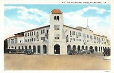 1920's Early Cars Melbourne Hotel Melbourne FL post card