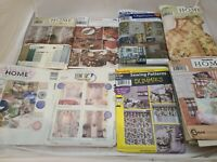 Lot of 8 Decorating Sewing Patterns Simplicity McCall's Curtains Storage Pillows