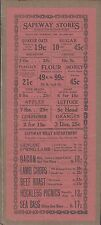 """Ca 1924 Safeway Stores Victorville Ca Flyer 13""""x5.5"""" For Foods Wow Was Folded"""