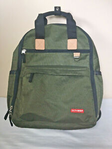 Skip Hop Duo Baby Infant Diaper Bag Backpack Day Pack Olive Green