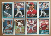 1991 Topps PHILADELPHIA PHILLIES Complete Team Set 29 MIKE SCHMIDT Sharp MINT !