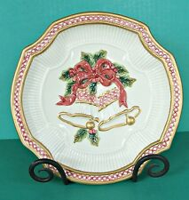 Fitz And Floyd Essentials Handcrafted Christmas Bell Plate Holiday Canapé Decor