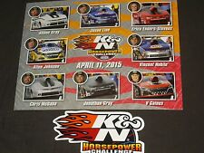 2015 K&N Horsepower Challenge Dated 4/11/15 With Decal Nhra Postcar 00004000 D