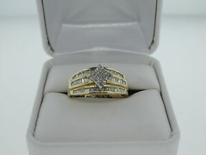 0.75CT Princess and Baguette Diamonds Wedding Engagement Ladies Solitaire Ring