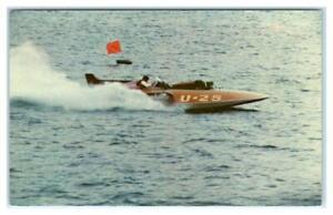 COEUR d'ALENE, Idaho ID ~ Hydroplane Boat DIAMOND CUP RACE c1950s-60s  Postcard