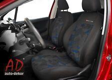 Citroën Xantia 2x FRONTAL Terciopelo Fundas De Asiento Coche Azul
