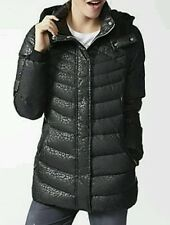 c8965e8525e1 adidas Neo AOP Down Quilted Puffer Coat Jacket Woman Small Ab3802 Black
