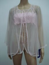 USA Made Nancy King Lingerie Baby Doll Top & Jacket Pajamas 1X Pink #470N