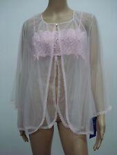 USA Made Nancy King Lingerie Baby Doll Top & Jacket Pajamas Medium Pink #468N