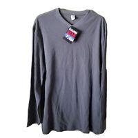 Vintage 90's Marlboro Gear Cigarettes Gray Thermal Longsleeve Shirt 1999 L
