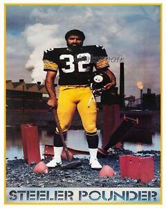 NFL Pittsburgh Steelers Franco Harris Advertisement REPRINT Color 8 X 10 Photo