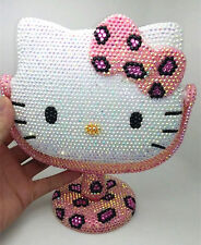 Bling Deluxe Leopard Hello Kitty Crystal Diamond Makeup Mirror! Best Gift Idea!