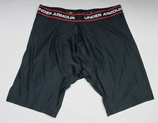 "NEW MENS UNDER ARMOUR ORIGINAL SERIES 9"" BOXERJOCK BOXER BRIEFS - LARGE - BLACK"