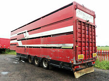 1991 Houghton 4 Deck Sheep Double Deck Cattle, Tri-axle On Air