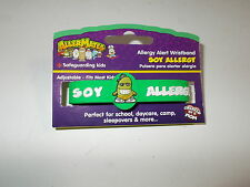 AllerMates SOY PRODUCTS Allergy Alert Wristband Medical ID Bracelet Emergency