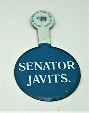 Senator Jacob Javits NY New York Political Campaign Button Folding Pin NOS New