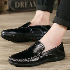 New Men'S Casual Flats Driving Moccasins Shoes Leather Loafers Slip Comfortable