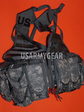 NEW US ARMY ACU MOLLE II FIGHTING LOAD CARRIER VEST +9 P.FLC LBV RIFLEMAN REAL