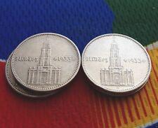 1934 A 2 Mark German SILVER WW2 Garrisonkirche Reich Coin 5*