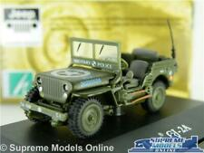 WILLYS JEEP CAR MODEL CJ-2A ARMY MILITARY OPEN 1:72 SIZE CARARAMA GREEN U.S.A T3