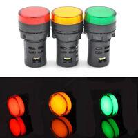 LED Indicator Pilot Light Signal Lamp Panel Green Blue Red Yellow White 22mm