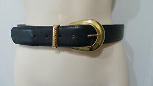 "Anne Klein II for Oroton blue Genuine leather Made in Australia belt 27"" 31"" M"
