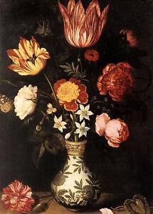 Oil ambrosius bosschaert the elder - Nice flower piece still life no framed art