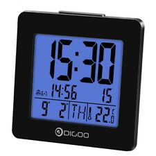 Digoo LED Digital Backlit Alarm Clock Thermometer Calendar Temperature Display
