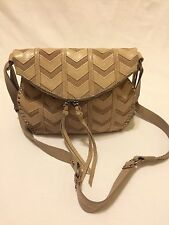 The Sak Casual California-cool beige Leather Messenger&Cross Body MSRP $159+Tax