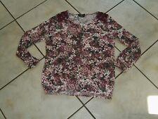 Super Shirt GINA BENOTTI Gr.M (42/44/46) rot rosa Flower Power neuwertig