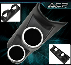 Racing 2 Hole Pillar Abs Holder Pod Cup Gauge Meter Led Air Fuel Ratio + Vacuum