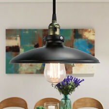 Vintage Industrial Chandelier Ceiling Light Pendant Lamp Shade Fixture in Black