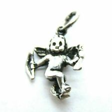 Cupid Angel Charm Pendant .925 Sterling Silver.