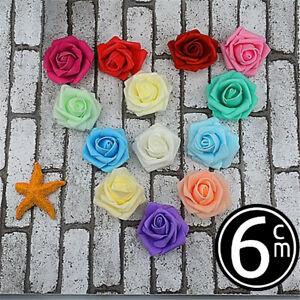 500pcs Artificial Flowers Foam Rose Fake Flower Heads Wedding Bouquet Valentines
