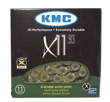 KMC x11.93 11 Espacios Cadena 114 Eslabones Dimension: 1/2 × 11/128 ″; PLATA /